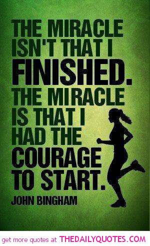 Famous Quotes and Sayings about Sports - Sport - The miracle isn't ...