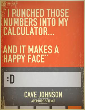 ... portal Cool signs portal 2 calculator cave johnson lemons mantis men
