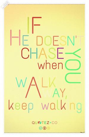 Keep walking vintage quote