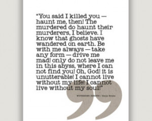 Wuthering Heights Love Quotes: Items Similar To Wuthering Heights ...