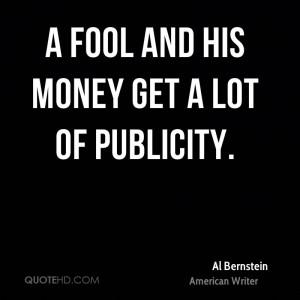 Al Bernstein Money Quotes