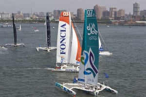 ... Made History Today Crossing Start Line Of KRYS Ocean Race In New York
