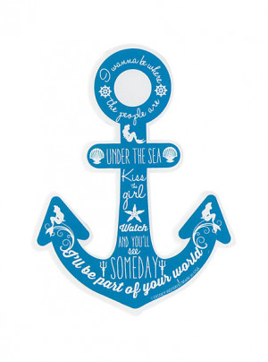 Disney The Little Mermaid Anchor Quotes Sticker SKU : 10181117 $2.99