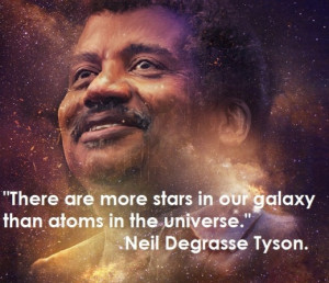 There are more stars in our galaxy than atoms in the universe.
