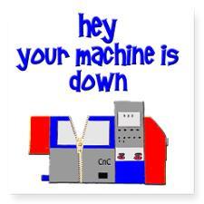 machine operator cnc machin Square Sticker 3