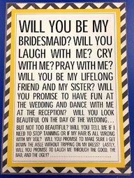 will you be my bridesmaid quotes