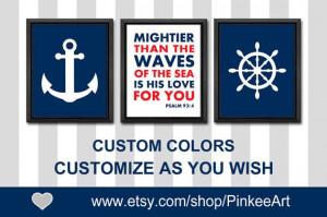 nautical bible quotes nautical baptism gift anchor ship wheel baby ...