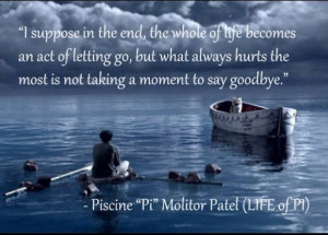 Life of pi quote-awesome movie!!!!!