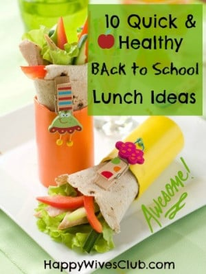 lunch ideas back to school series