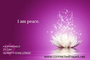 am peace.