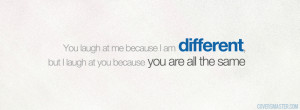 am Different Quote Facebook Cover