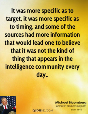 It was more specific as to target, it was more specific as to timing ...