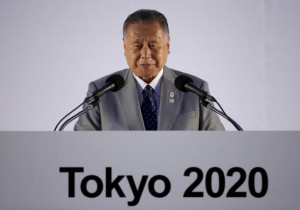 Yoshiro Mori, Japan's former Prime Minister and president of the Tokyo ...