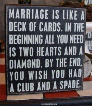 To Funny. Makes one laugh. Marriage