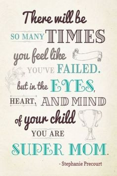 What a simple reminder for those not so perfect days of parenting ...