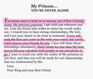My princess you are never alone