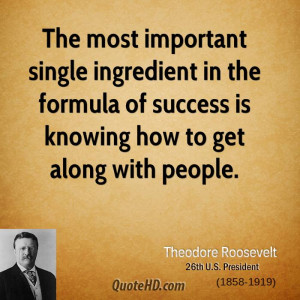 Theodore Roosevelt Success Quotes