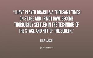 Bela Lugosi Dracula Quotes