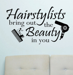 Hair Stylist Quotes Pinterest Vinyl wall lettering quotes