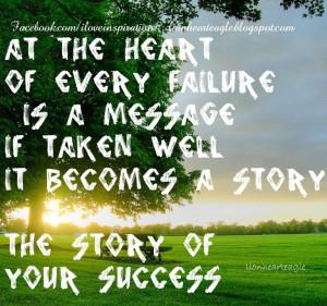 Turn Failure into Success