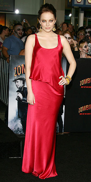 ... bold gold Neil Lane jewels, at the Zombieland Los Angeles premiere