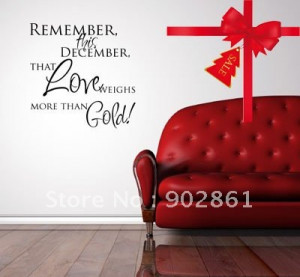 ]-1pc Holiday Promotion CHRISTMAS Remember this December Vinyl Quote ...