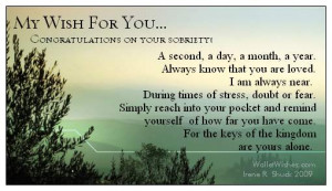 Congratulations On Sobriety Quotes