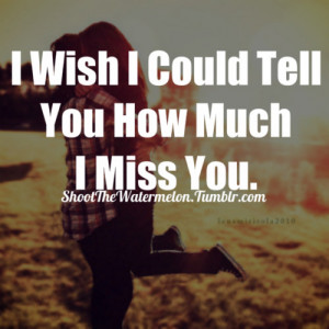 Wish I Could Tell You How Much I Miss You ~ Break Up Quote