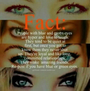 ... if there's something about brown or black or hazel eyed people