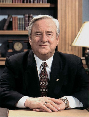 "Baptist minister Jerry Falwell led the ""Moral Majority,"" a ..."