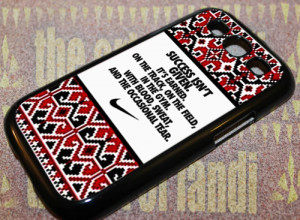 Aztec Nike Quotes Success For iPhone 5/5c/5s Black Rubber Case