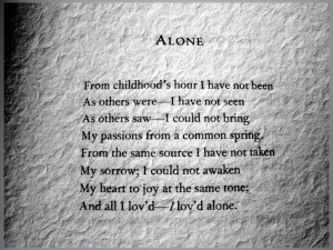 ... topic poe alone poem by edgar allan poe by gothicvictorian01 d46qx9n