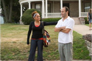 Still of Roger Kumble and Raven-Symoné in College Road Trip (2008)