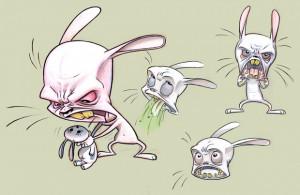 Angry Cartoon Rabbit