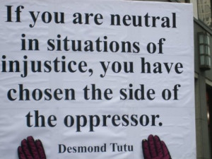 ... are neutral in situations of injustice you have the angry black woman