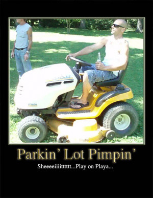 Funny motivational poster Parkin Lot Pimpin Image
