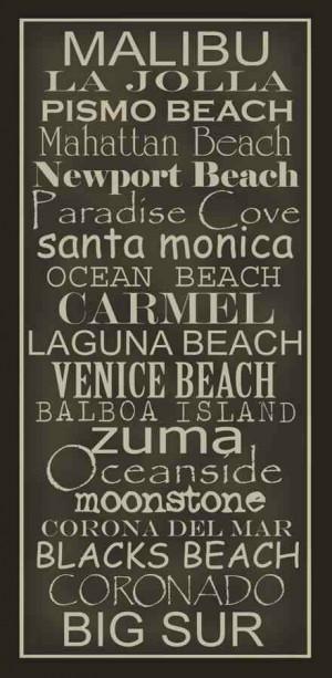 California beaches.
