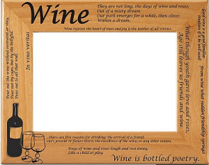 Wine Quotes Picture Frame (Horizontal)