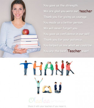 You Gave Us The Strength. We Are Glad You Were Our Teacher Thank You ...