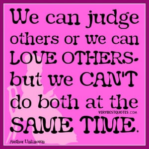 christian quotes about judging others