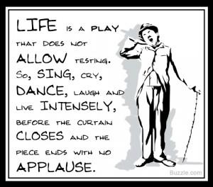 Charlie Chaplin on life