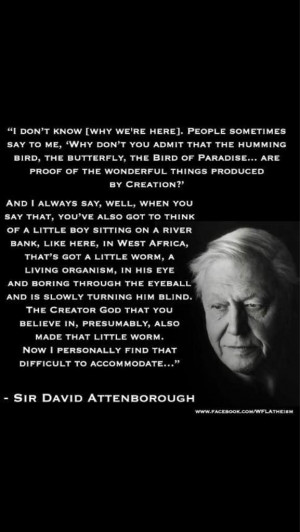 quote from Sir David Attenborough, that sums up my feelings ...