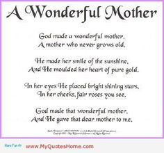 ... love u mom poem mothers are always wonderful more mothers
