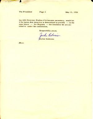 Evidence 1: Letter to President Eisenhower, 1958
