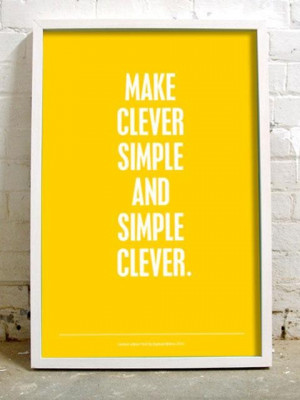 Make clever simple quote