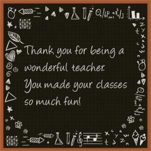 Thankful To My Favorite Teacher