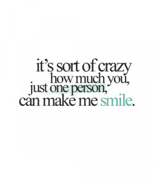 Its sort of crazy how much you just one person