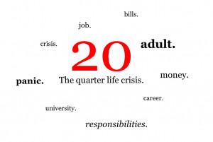 Quarter life crisis ( noun )