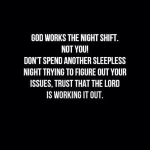 works the night shift. Not you! Don't spend another sleepless night ...