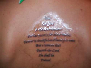 Tattoo Bible Quotes For Women Bible scripture tattoo